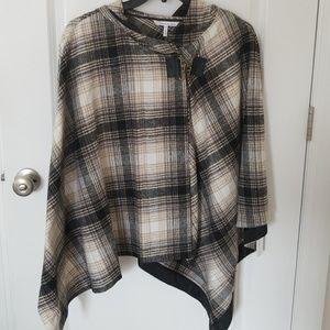 Brand new French Connection tartan Cape with hood